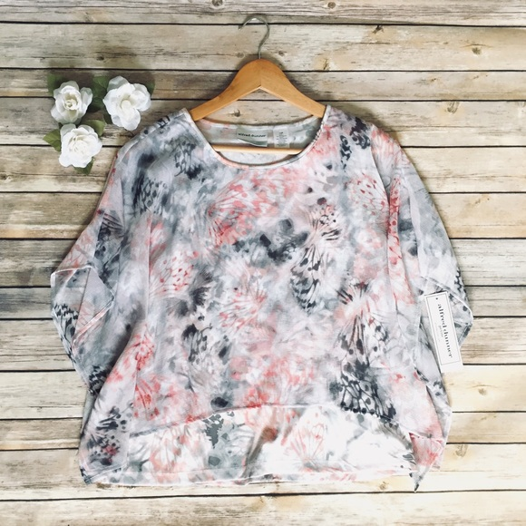 75b349240995e NWT Alfred Dunner Watercolor Butterfly Top